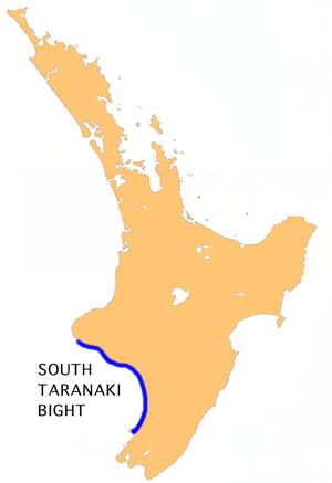 South Taranaki Bight - Location of South Taranaki Bight