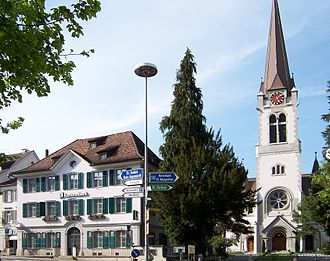 Altstätten - Näff house and Altstätten church