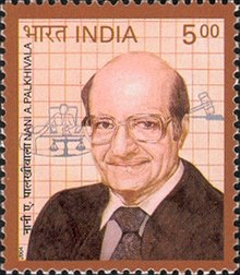 Palkhivala on a 2004 stamp of India