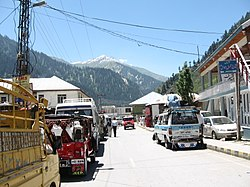A view of Naran town, Kaghan Valley