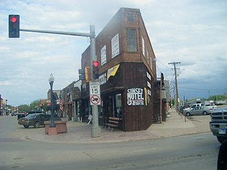National Register of Historic Places listings in Butte County, South Dakota - Image: Narrow building in Belle Fourche