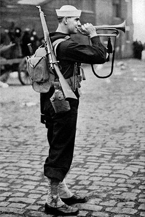 Bugle - American naval bugler in 1917