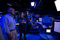 Navy Commander Timothy Wilke, center, the commanding officer of the USS Freedom (LCS 1), gives U.S. Secretary of Defense Chuck Hagel, left, a tour of the mission control center of the USS Freedom (LCS 1) 130602-D-BW835-228.jpg