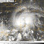 Navy photo of Hurricane Matthew's approach to Haiti and Cuba, 160930-N-N0101-001.jpg