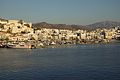 Naxos Town and Mt Zas from port before sunset, 130499.jpg