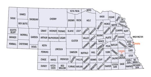 Lista de condados de Nebraska – Wikipédia, a enciclopédia livre