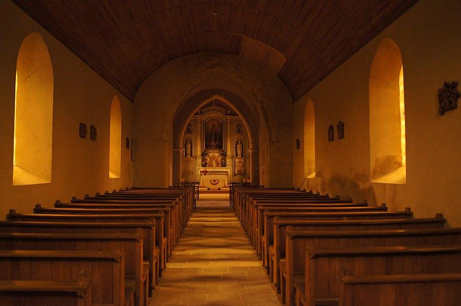 Nef Église de l'Assomption Angoville-sur-Ay