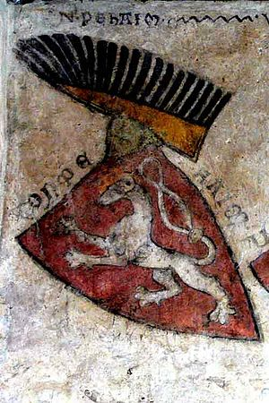 Kingdom of Bohemia - The oldest depiction of coat of arms of Bohemia, castle Gozzoburg in Krems