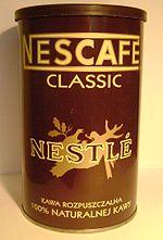 Nescafe, dikomersialkan pertama kali pada tahun 1938 di swiss
