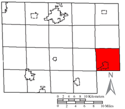 Location of New London Township in Huron County