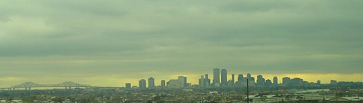 The New Orleans cityscape in early February 2007 New Orleans Skyline.jpg