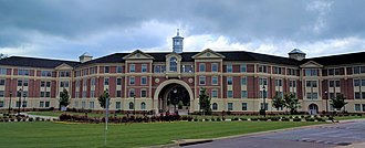 Troy University - The largest residence hall in the Trojan Village student housing complex on the Troy University campus