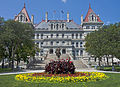 New York state capitol front view with flower bed.jpg