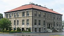 Newton County Courthouse in Kentland from southeast.jpg