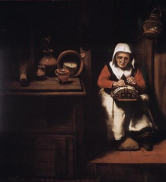 An Old Woman Dozing - Image: Nicolaes Maes 009