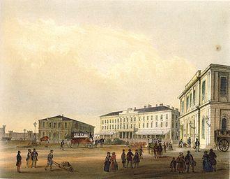 Station building - Image: Nicolas Marie Joseph Chapuy 001