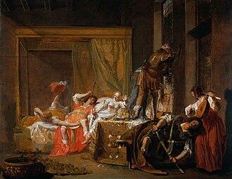 """Gaius Silius (consul designatus 49 AD) - """"Gaius Sillius and Messalina"""" by Nikolaus Knüpfer (c. 1650)"""