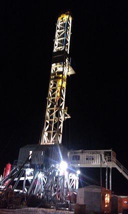 Night View of Drilling the Baaken