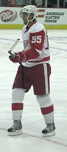 Photo de profil de Niklas Kronwall portant le numéro 55 des Red Wings.