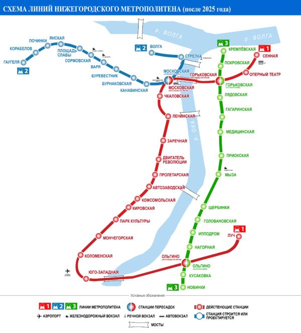 Схема развития Нижегородского