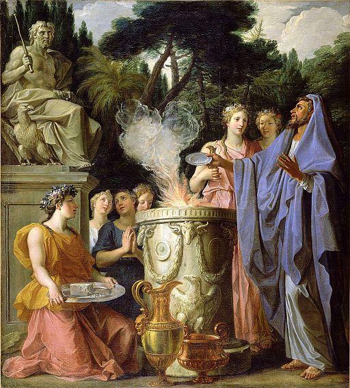 Noël Coypel - Sacrifice to Jupiter