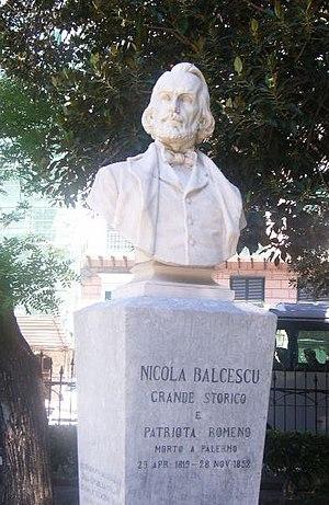Nicolae Bălcescu - Bălcescu's bust in Palermo