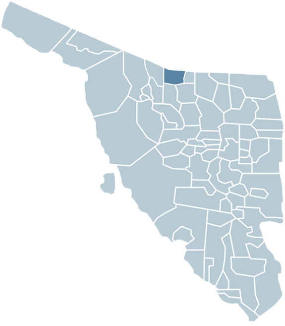 Location of the Municipality of Nogales in Sonora.