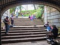 NorCal2018 Street musicians performing in a pedestrian underpass at the Golden Gate Park S0443073.jpg