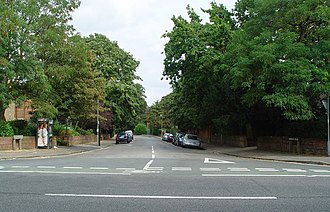 Norham Road - View east down Norham Road from Banbury Road.
