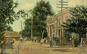 Chatham, Virginia - North Main Street, Chatham, circa 1909
