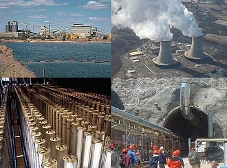 Environmental impact of the energy industry - Nuclear power activities involving the environment; mining, enrichment, generation and geological disposal.