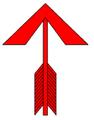 Nyílvessző (heraldika) fr -- dard.PNG