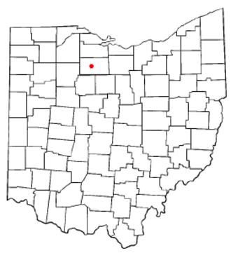 Tiffin, Ohio - Image: OH Map doton Tiffin