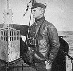 Oberleutnant zur See Karl Dönitz as Watch Officer of U-39.jpg