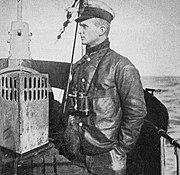 Oberleutnant zur See Karl Dönitz as Watch Officer of U-39