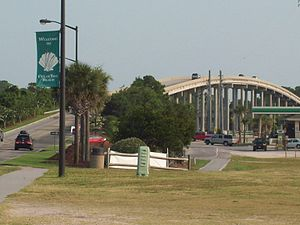 Bridge Over Intracoastal Waterway View Of The Atlantic Ocean From Isle Beach