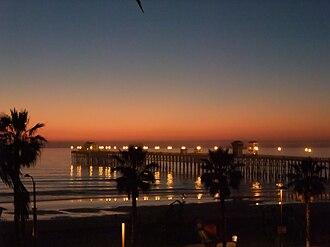 Oceanside Pier - Oceanside Pier at sunset