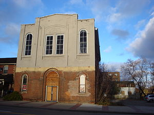 Independent Order of Odd Fellows - Oddfellows' Hall in Streetsville, Mississauga, built in 1867. The building was sold in 1972.