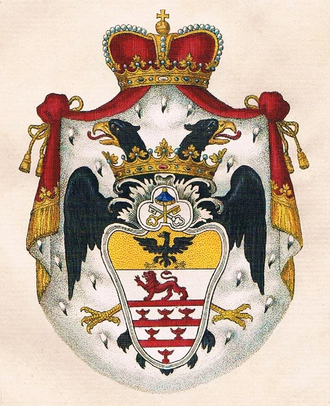 Erba-Odescalchi - Princely coat of arms of the Odescalchi family.
