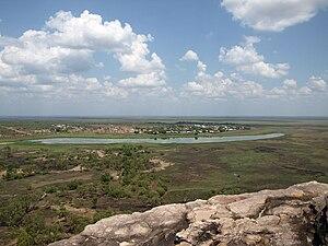 Gunbalanya, Northern Territory - A view of Gunbalanya from nearby Injalak Hill