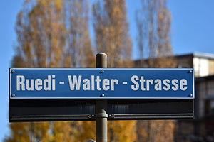 Ruedi Walter - Ruedi-Walter-Strasse in Zürich-Oerlikon