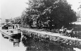 Ohio and Erie Canal - Part of the Ohio and Erie canal during 1902.