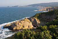 A view of Maslen nos, a cape on the Black Sea coast