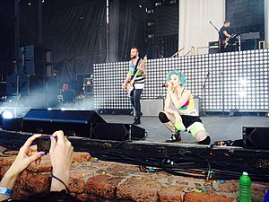 Monumentour - Paramore performing at a Monumentour concert