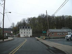Bechtelsville, Pennsylvania - Old Pennsylvania Route 100 in Bechtelsville