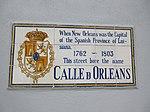 Olreans Spanish Plaque at Royal Street French Quarter 25th Feb 2019.jpg