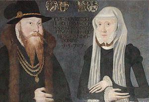 Anne Hardenberg - Anne of Hardenberg in 1572 with her husband, Oluf Krognos