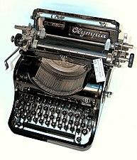 Olympia typewriter model 8