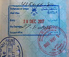 The Blue Rectangular Stamp Represents Visa And Entry Round Red Is Exit Obtained At Wajaja Land