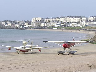 Planes on the beach during the yearly air show